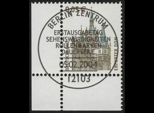 2381 SWK 0,05 Euro Ecke ul mit PLF 2381I ESST Berlin