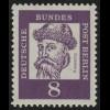 201 Bed. Deutsche 8 Pf, Einzelmarke + Nr. **