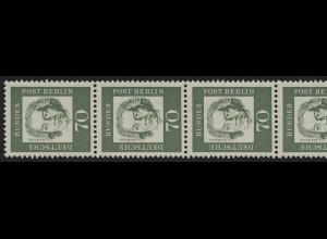 210 Bed. Deutsche 70 Pf, 5er-Streifen + Nr. ** postfrisch