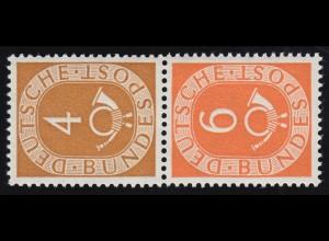 S1 Zusammendruck Posthorn, postfrisch ** / MNH