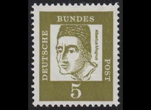347y Bed. Deutsche y 5 Pf, Einzelmarke + dreistellige ungerade Nr. **