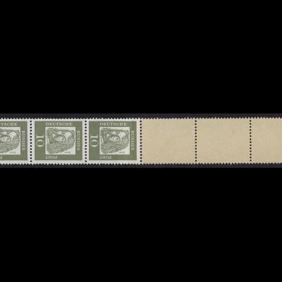 350y Bed. Deutsche y 10 Pf, Rollenende 5+4 gelb, **