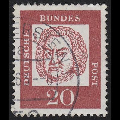 352y Bed. Deutsche y 20 Pf 1000er-Rolle, Marke + Nr. O