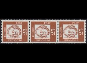 353 Bed. Deutsche y 25 Pf, 3er-Streifen + Nr. **