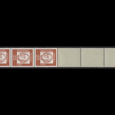 353 Bed. Deutsche y 25 Pf, Rollenende 5+4 grau/glatt mit Adler, **