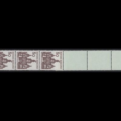 461 Bauwerke 80 Pf, Rollenende 5+4 türkis **