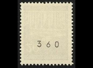 507v Brandenb. Tor v 20 Pf Dextrin 400er-Rolle, Einzelmarke + Nr. **