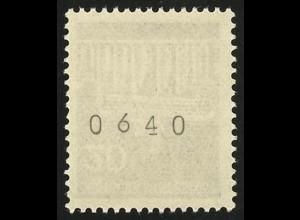 507v Brandenb. Tor v 20 Pf Dextrin 1000er-Rolle, Einzelmarke + Nr. **