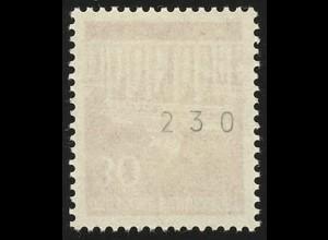 508v Brandenb. Tor v 30 Pf Dextrin 300er-Rolle, Einzelmarke + Nr. **