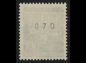 510v Brandenb. Tor v 100 Pf Dextrin, Einzelmarke + Nr. **