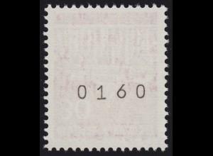 508w Brandenb. Tor w 30 Pf Planatol 1000er-Rolle, Einzelmarke + Nr. **