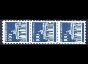 510w Brandenb. Tor w 100 Pf Planatol, 3er + Nr. **