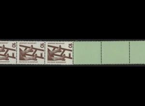 695a Unfall schwarze Nr. 10 Pf, Rollenende 5+4 ** grün / Planatol