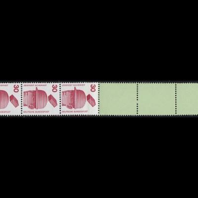 698c Unfall grüne Nr. 30 Pf, RE 11+4 Leerfelder grün/Planatol **