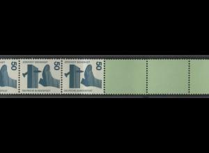 700e Unfall blaugrüne Nr. 50 Pf, Rollenende 5+4 grün/Dextrin **