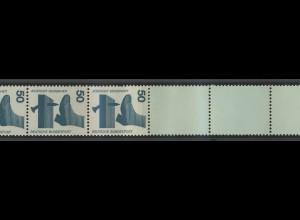 700e Unfall blaugrüne Nr. 50 Pf, Rollenende 5+4 helltürkis ** postfrisch