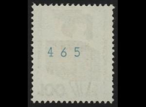 702e Unfall blaugrüne Nr. 100 Pf, Einzelmarke mit Zählnummer postfrisch **