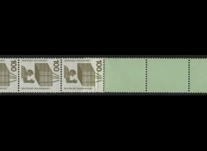 702e Unfall blaugrüne Nr. 100 Pf, Rollenende 5+4 grün/Planatol, ** postfrisch