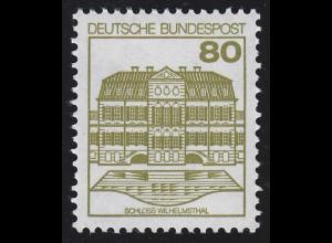 1140I BuS neue Fluo 80 Pf, Marke mit Nr. 005 **