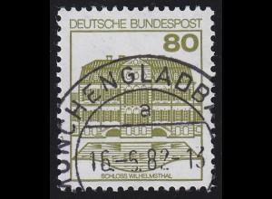 1140I BuS neue Fluo 80 Pf 500er, Einzelmarke + Nr. O