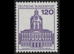 1141 BuS neue Fluo 120 Pf, Einzelmarke + Nr. **