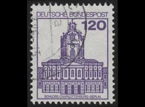 1141 BuS neue Fluo 120 Pf, Einzelmarke + Nr. O