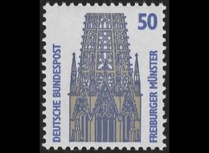 1340u SWK gelbe Gum. 50 Pf 500er, Einzelmarke + Nr. **
