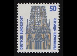 1340u SWK gelbe Gum. 50 Pf 500er-Rolle, Rollenanfang Nr. 500 **