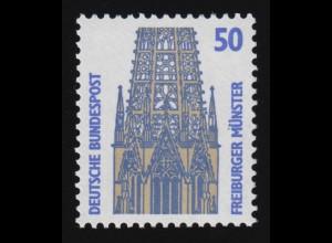 1340u SWK gelbe Gum. 50 Pf 1000er, Einzelmarke + Nr. **