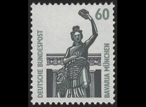 1341u SWK gelbe Gum. 60 Pf 300er, Einzelmarke + Nr. **