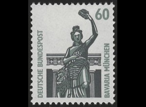 1341u SWK gelbe Gum. 60 Pf 500er, Einzelmarke + Nr. **