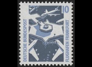 1347u SWK gelbe Gum. 10 Pf, Einzelmarke + Nr. **