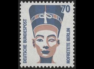 1374 SWK gelbe Gum. 70 Pf Nofretete, Marke mit Nr. **
