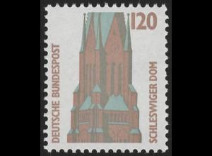 1375 SWK gelbe Gum. 120 Pf, Einzelmarke + Nr. **