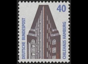 1379u SWK gelbe Gum. 40 Pf, Einzelmarke + Nr. **