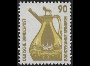 1380 SWK gelbe Gum. 90 Pf, Einzelmarke + Nr. **