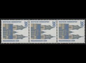 1665I SWK ALTE Nr. 200 Pf, 3er-Streifen + Nr. **