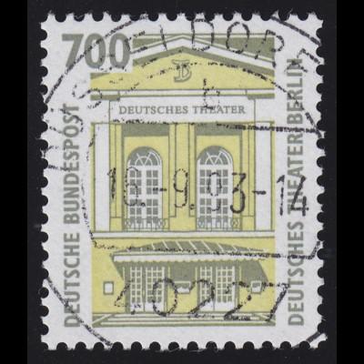 1691 SWK weiße Gum. 700 Pf, Einzelmarke + Nr. O