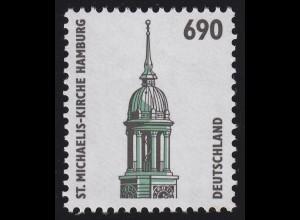 1860 SWK neue Nr. 690 Pf, Einzelmarke mit rückseitiger Nr. **