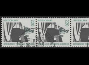 1936 SWK neue Nr. 220 Pf, 5er-Streifen + Nr. O