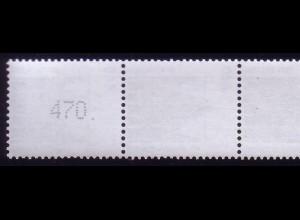 1937 SWK neue Zählnummer 440 Pf, 5er-Streifen + Nr. **