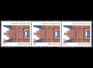 1938 SWK neue Nr. 510 Pf, 3er-Streifen + Nr. **