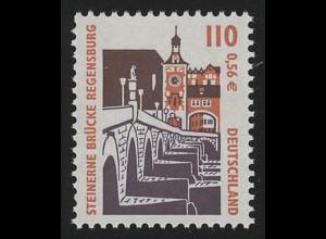 2140 SWK 110/56 10000er-Rolle, Einzelmarke + Nr. **
