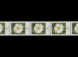 2451b Blumen 0,45 HELLGRÜN (nur von der Rolle), 11er Übergang 2/3-stellig **