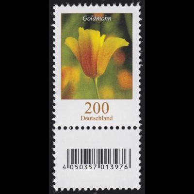 2568 Blumen 200 Cent mit Nummer und Codierfeld, **