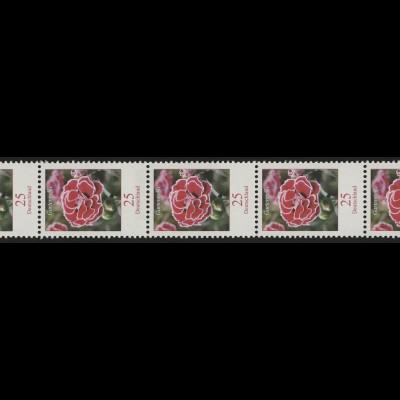 2694 Blumen 25 Cent nk 5er-Streifen aus 200-Rolle mit GERADER Nummer **