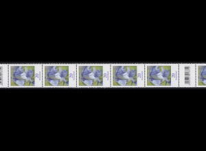 3315 Blume 20 Cent aus 200er-Rolle, 11er Rollenende mit 3 Codierfeldern **