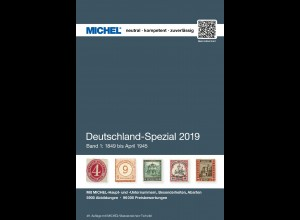MICHEL Deutschland Spezial 2019 Band 1 (bis April 1945)