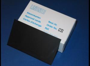 LINDNER 100 Klemmkarten, schwarzer Kunststoff, 1 Streifen