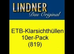 LINDNER ETB-Klarsichthüllen 819 (ungeteilt), 10er-Pack